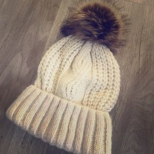 Cute white/freak colored hat form aerie